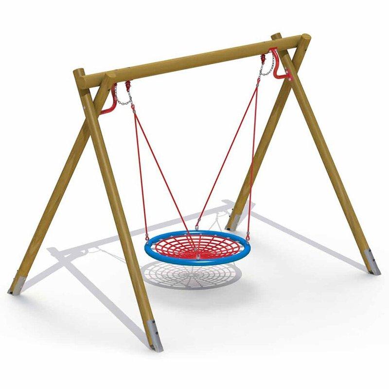 nestschaukel holzgestell mawi spiele sinnvolle geschenke und spielger te f r kindergarten. Black Bedroom Furniture Sets. Home Design Ideas