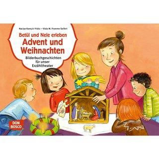 Advent Und Weihnachten Im Kindergarten.Kamishibai Karten Betül Und Nele Erleben Advent Und Weihnachten