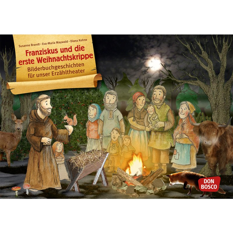 Kamishibai Karten Franziskus und die erste Weihnachtskrippe