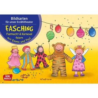 Kamishibai Karten Fasching Fastnacht Karneval Mit Emma Und Paul
