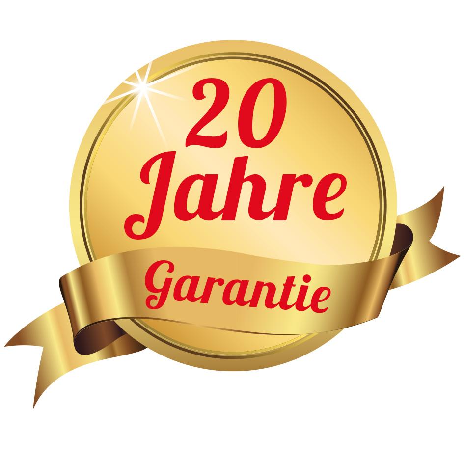 20 Jahre Garantie